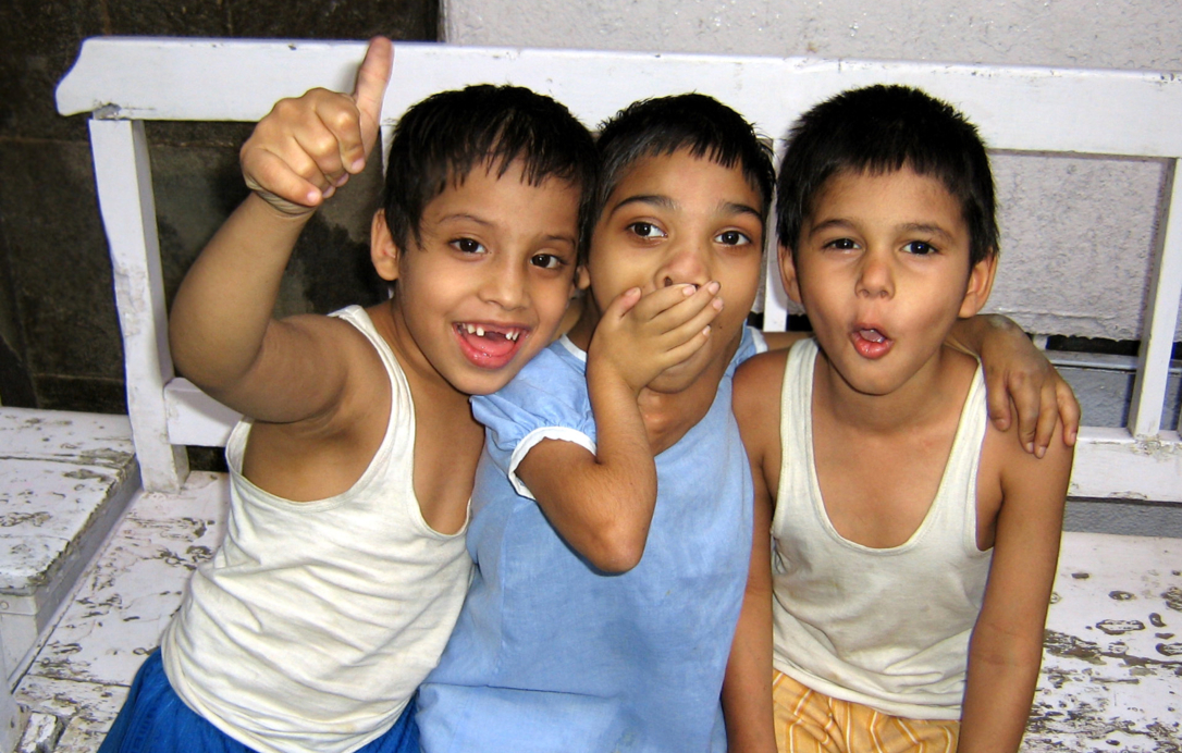 group of young boy smiling